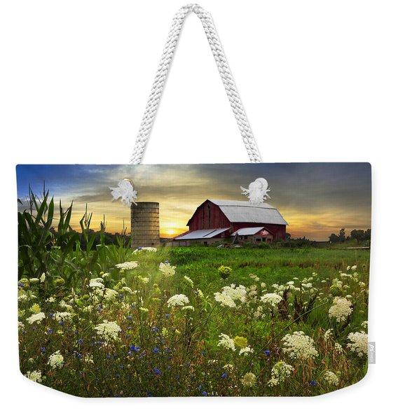 Sunset Lace Pastures Weekender Tote Bag
