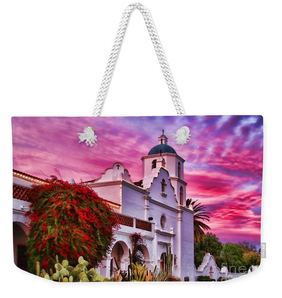 Sunset Mission San Luis Rey De Francia By Diana Sainz Weekender Tote Bag