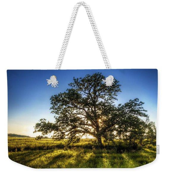 Sunset Oak Weekender Tote Bag