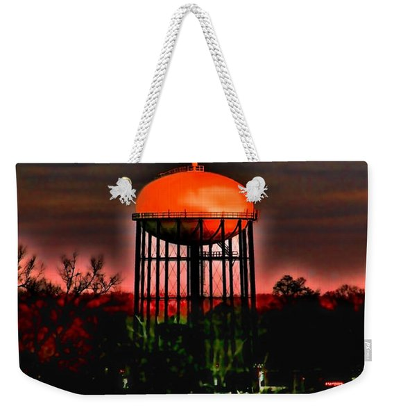 Sunset On A Charlotte Water Tower By Diana Sainz Weekender Tote Bag