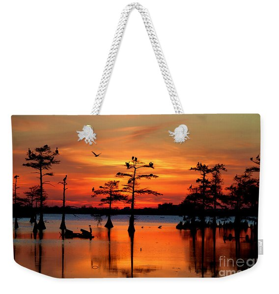 Sunset On The Bayou Weekender Tote Bag