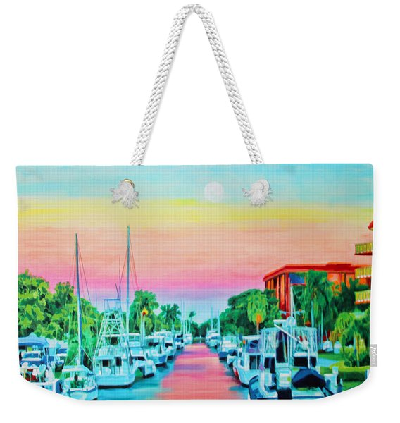 Sunset On The Canal Weekender Tote Bag