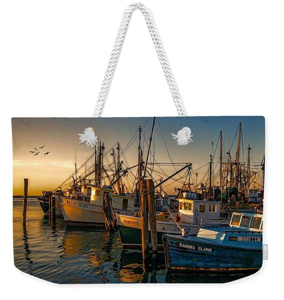 Sunset On The Fleet Weekender Tote Bag