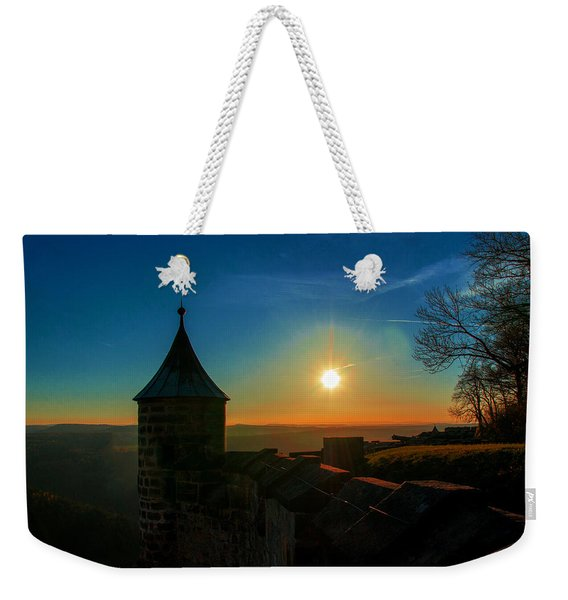 Sunset On The Fortress Koenigstein Weekender Tote Bag