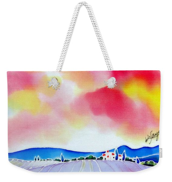 Sunset On The Lavender Farm  Weekender Tote Bag