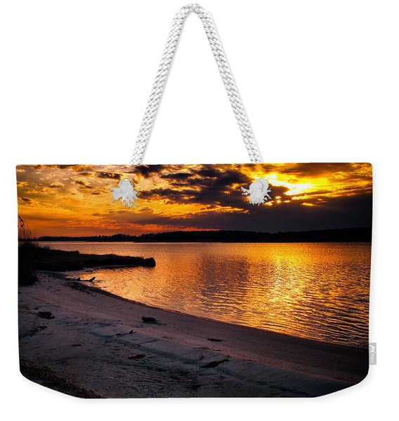 Sunset Over Little Assawoman Bay Weekender Tote Bag