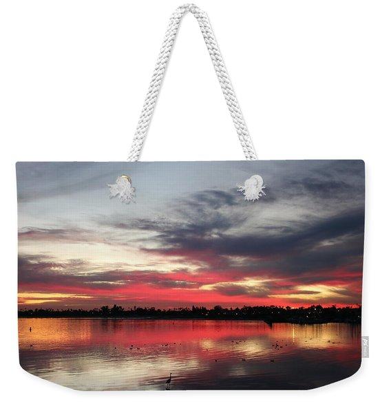 Sunset Over Mission Bay  Weekender Tote Bag