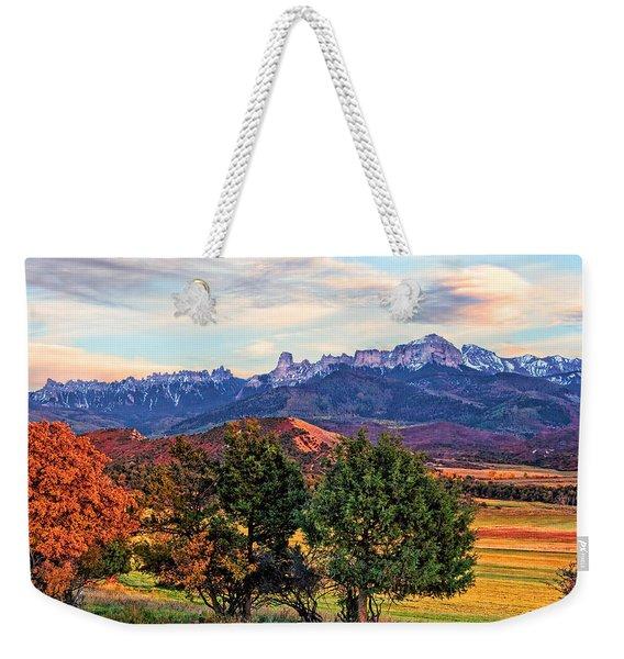 Sunset Over Owl Creek Pass Weekender Tote Bag