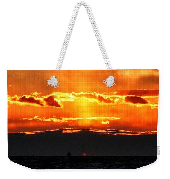 Sunset Over Sound Weekender Tote Bag