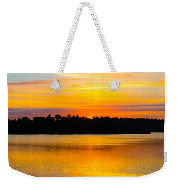 Sunset Over The Lake Weekender Tote Bag