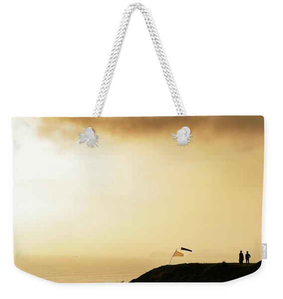 Sunset Over The Pacific Ocean In Lima Weekender Tote Bag