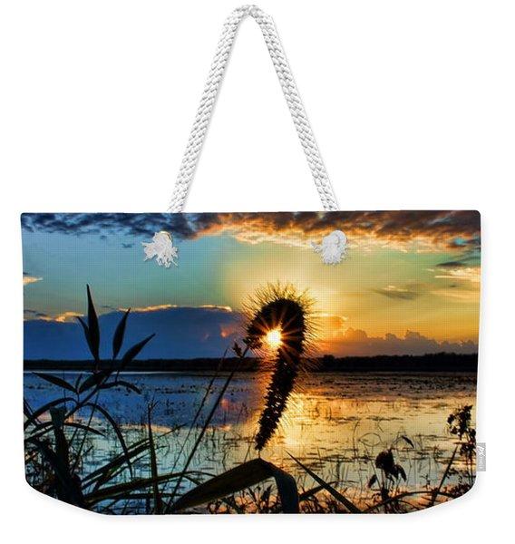 Sunset Over The Refuge Weekender Tote Bag