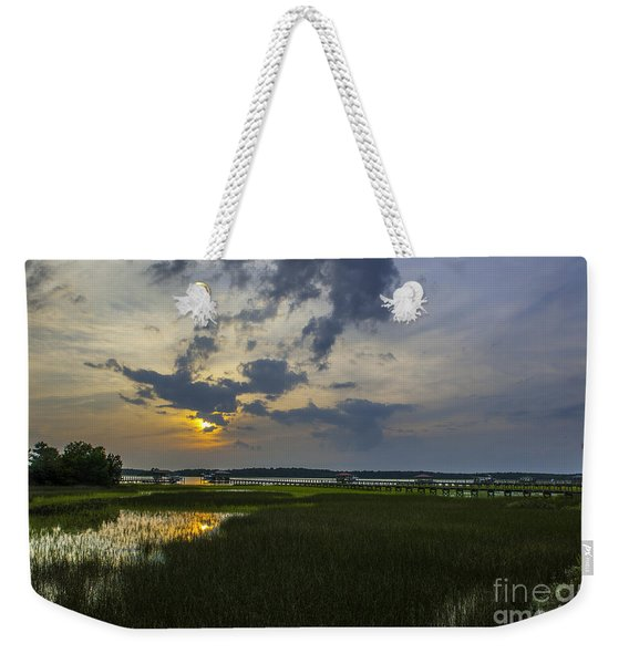 Sunset Over The Wando Weekender Tote Bag