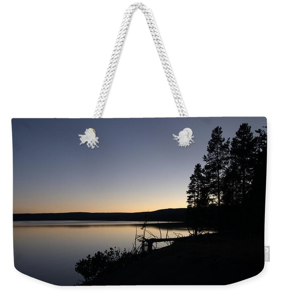 Sunset Over Yellowstone Lake Weekender Tote Bag