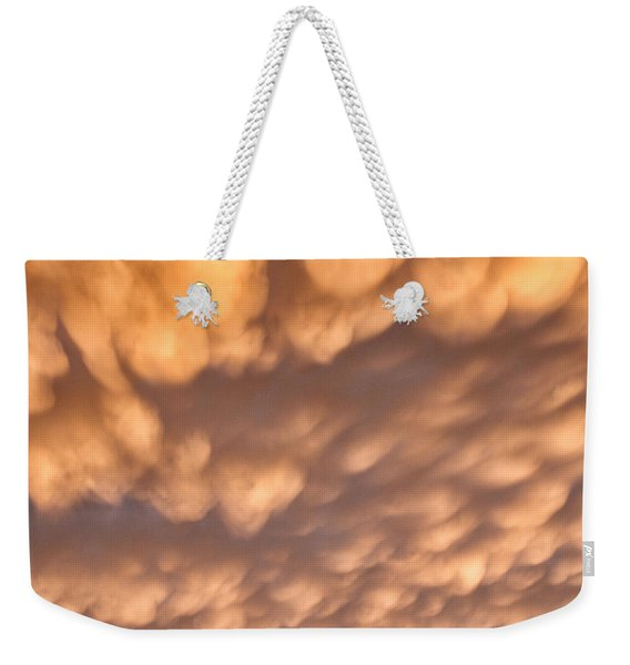 Weekender Tote Bag featuring the photograph Sunset Pillows by William Selander