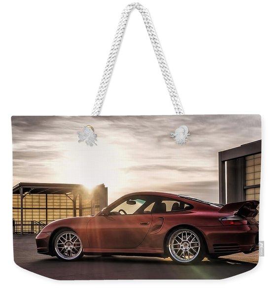 Sunset Red Weekender Tote Bag