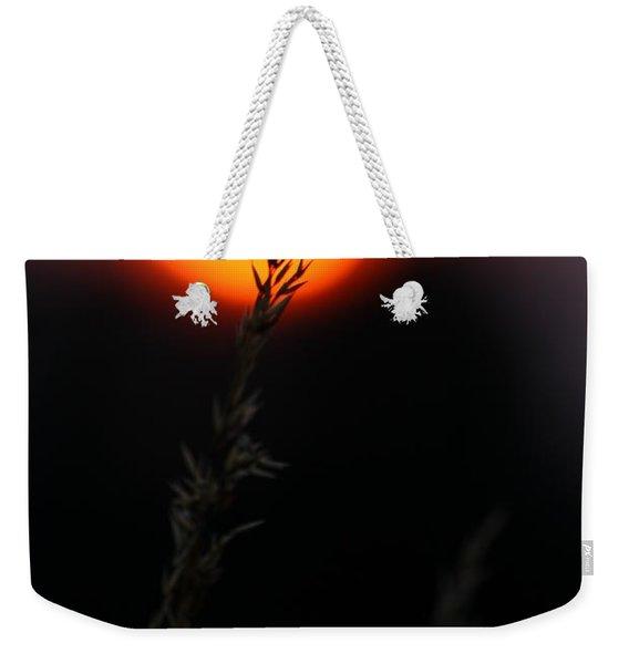 Sunset Seed Silhouette Weekender Tote Bag
