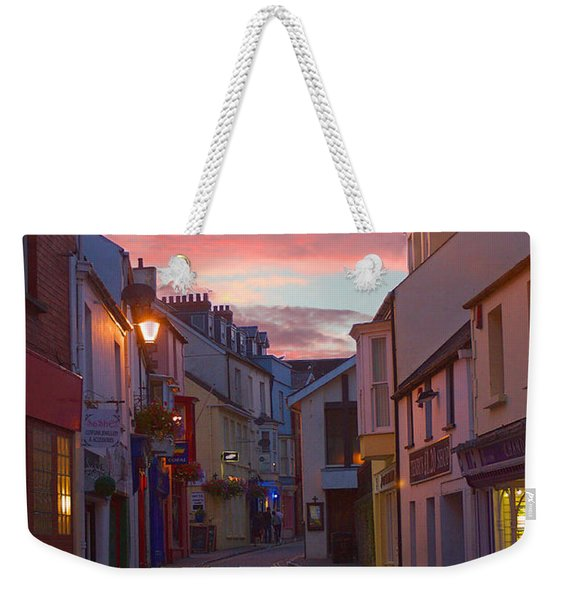 Weekender Tote Bag featuring the photograph Sunset Street by Jeremy Hayden