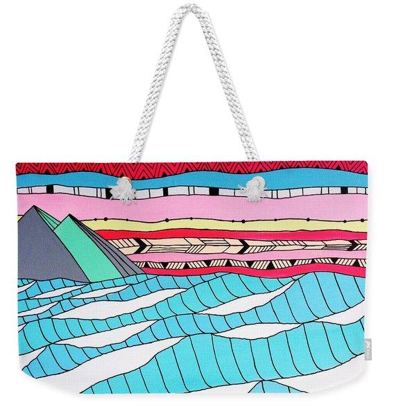 Sunset Surf Weekender Tote Bag