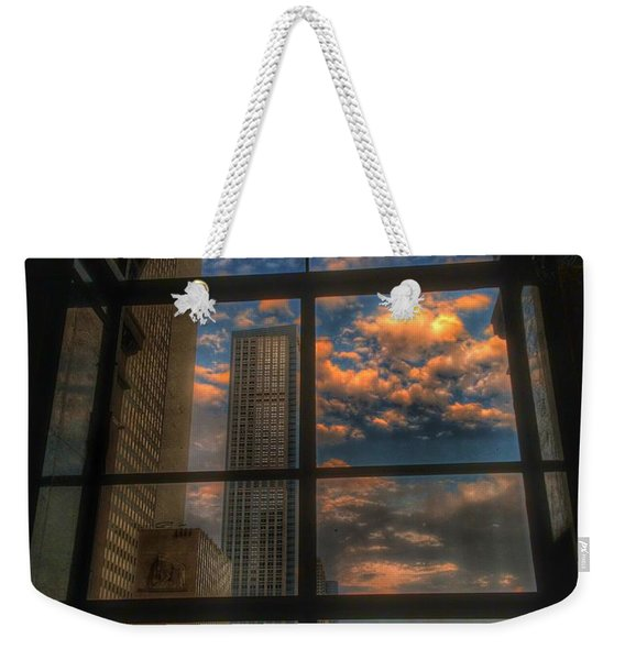 Sunset View Of Chicago Weekender Tote Bag
