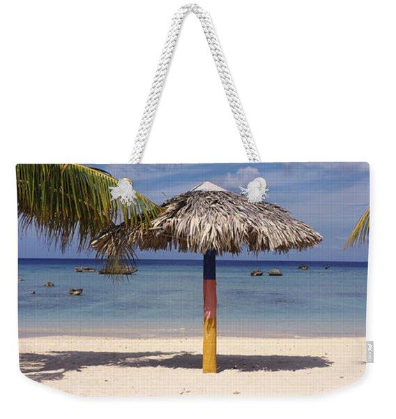 Sunshade On The Beach, La Boca, Cuba Weekender Tote Bag