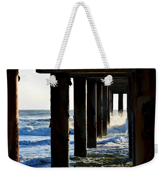 Sunwash At St. Johns Pier Weekender Tote Bag