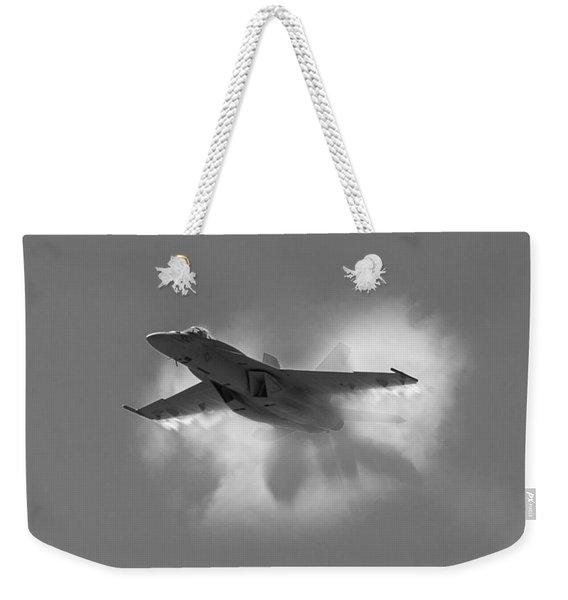 Super Hornet Shockwave Bw Weekender Tote Bag