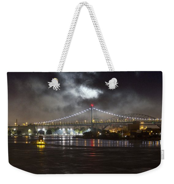 Super Moon And Triboro Bridge Weekender Tote Bag