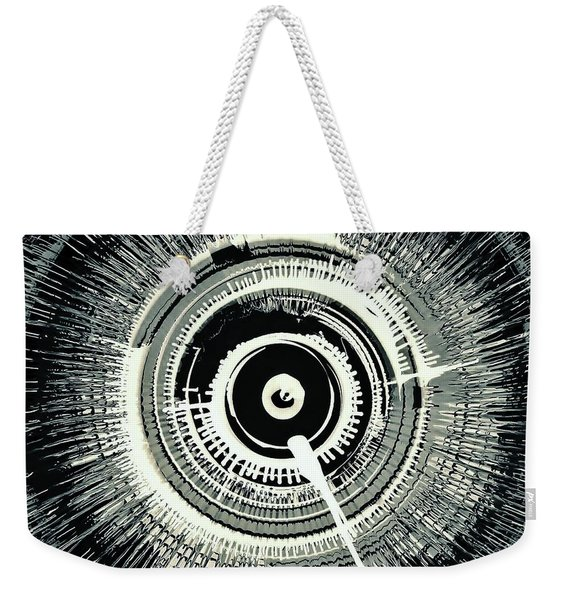 Super Nova Black Weekender Tote Bag