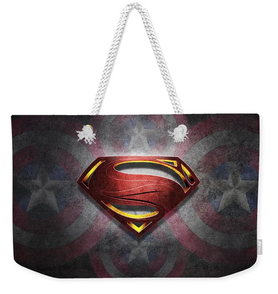 Superman Symbol Digital Artwork Weekender Tote Bag