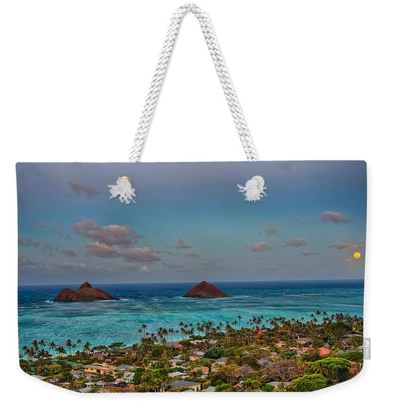 Supermoon Moonrise Weekender Tote Bag