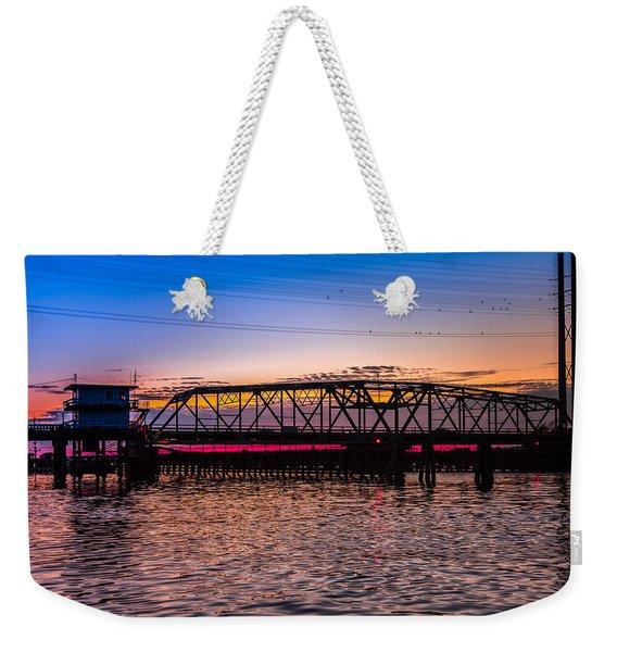 Surf City Swing Bridge Weekender Tote Bag