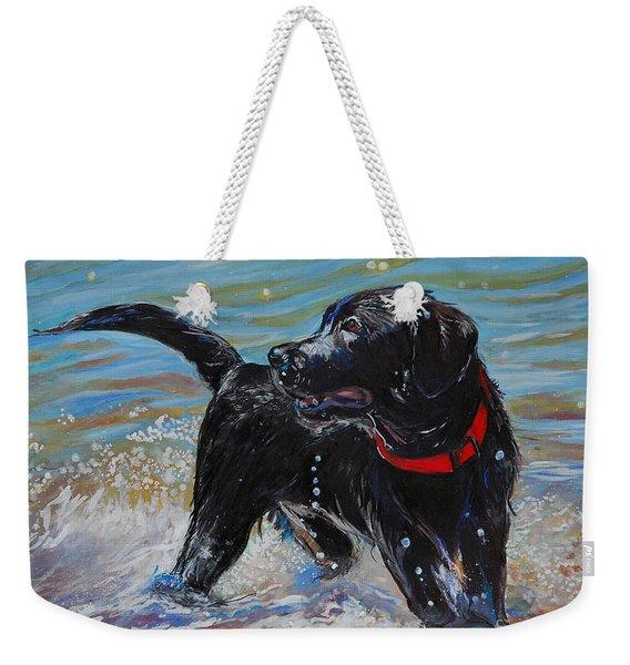 Surf Pup Weekender Tote Bag