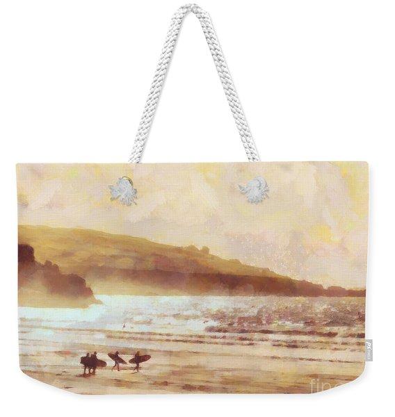 Surfer Dawn Weekender Tote Bag