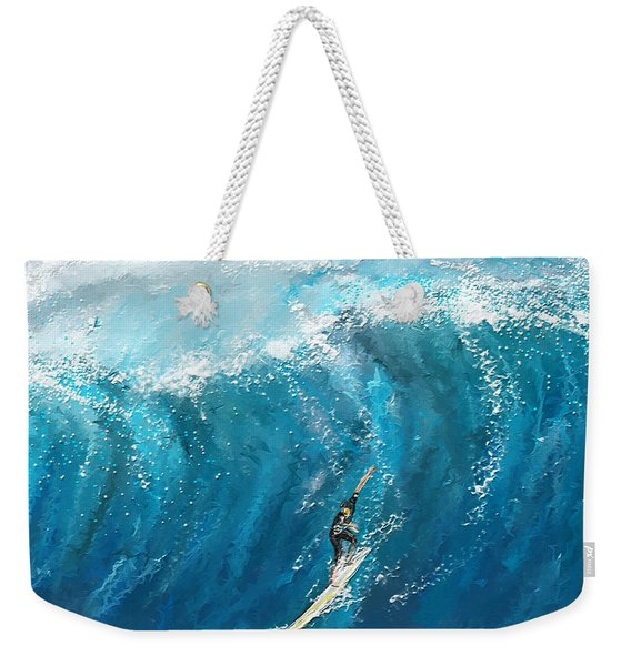 Surf's Up- Surfing Art Weekender Tote Bag
