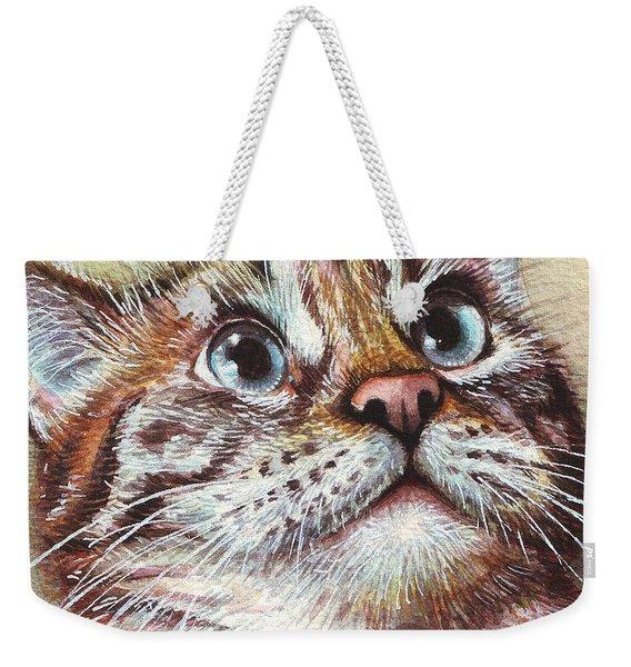 Surprised Kitty Weekender Tote Bag