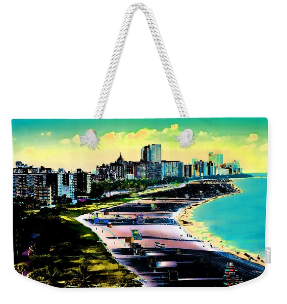 Surreal Colors Of Miami Beach Florida Weekender Tote Bag