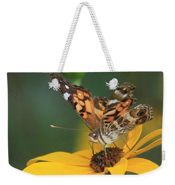 Susan Painted Lady Weekender Tote Bag
