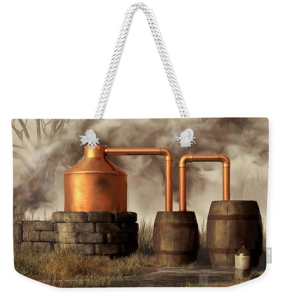 Swamp Moonshine Still Weekender Tote Bag