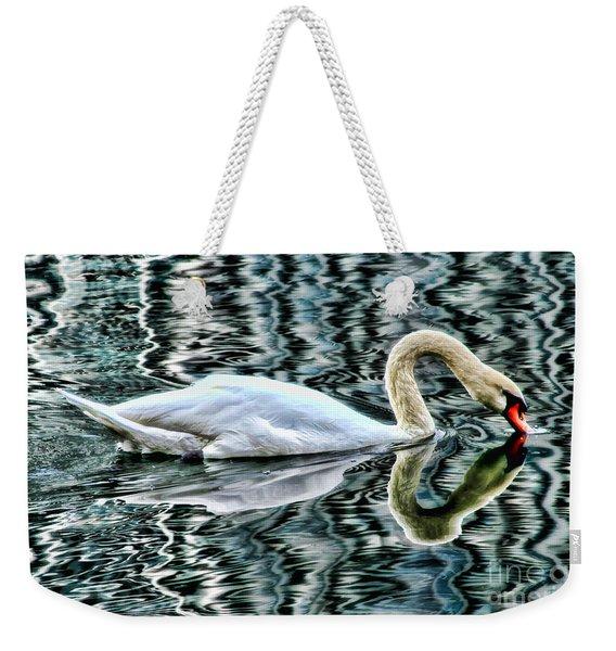 Swan On Lake Eola By Diana Sainz Weekender Tote Bag