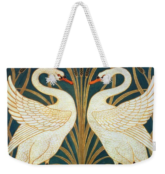 Swan Rush And Iris Weekender Tote Bag