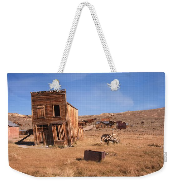 Weekender Tote Bag featuring the photograph Swazey Hotel Bodie Ghost Town by Susan Leonard