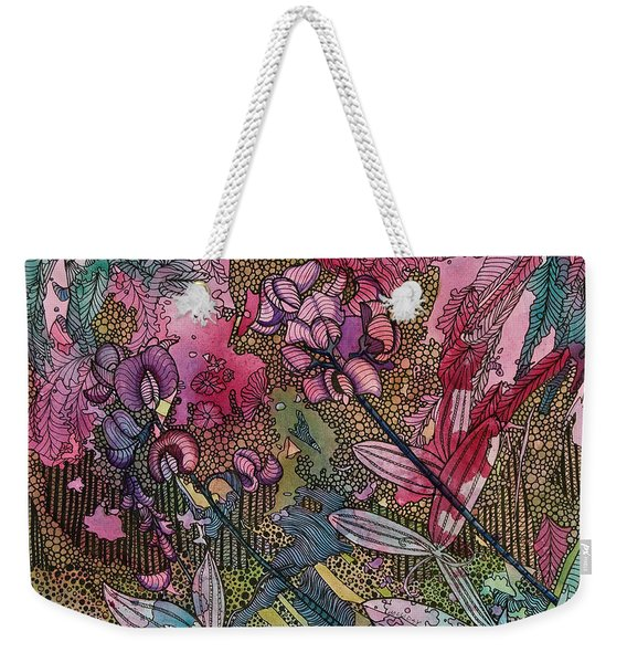 Sweet Peas In Bloom Weekender Tote Bag