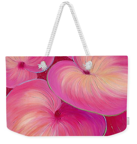 Weekender Tote Bag featuring the painting Sweet Tarts II by Sandi Whetzel