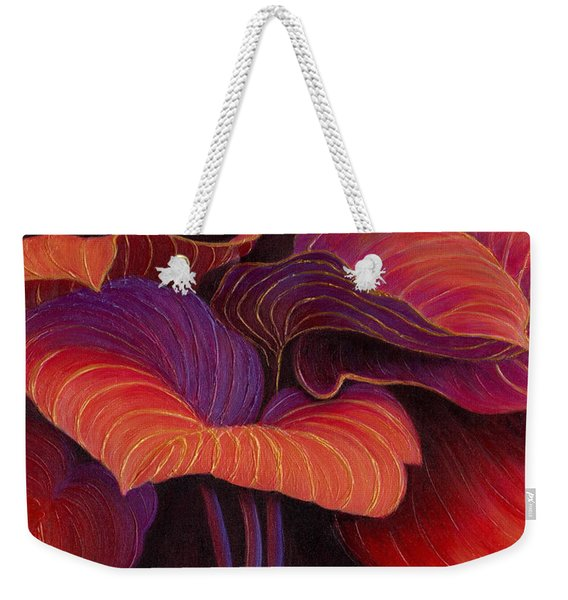 Weekender Tote Bag featuring the painting Sweet Tarts by Sandi Whetzel
