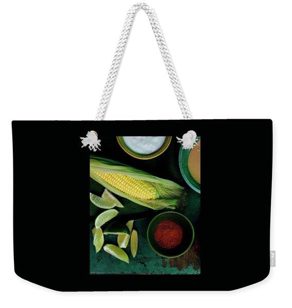 Sweetcorn And Limes Weekender Tote Bag