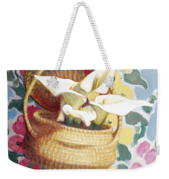 Sweetgrass Basket With Lilies Weekender Tote Bag