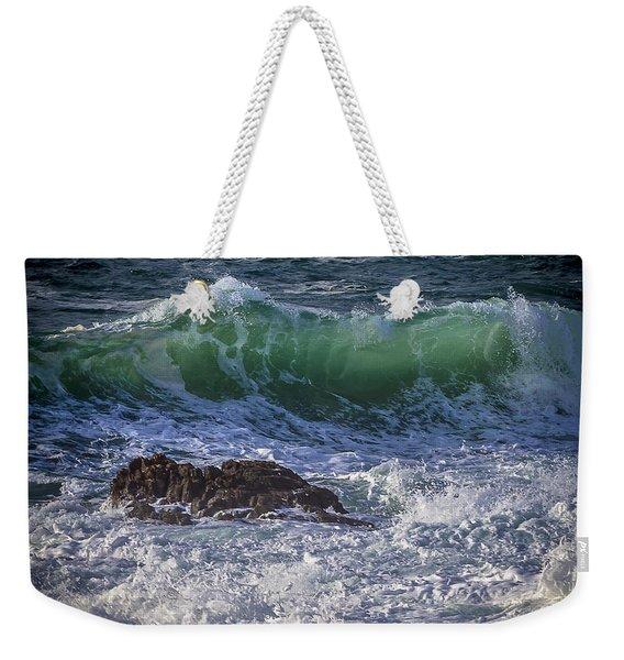 Swells In Doninos Beach Galicia Spain Weekender Tote Bag