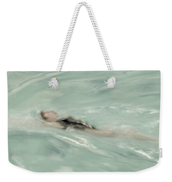 Weekender Tote Bag featuring the photograph Swimmer by Patricia Strand