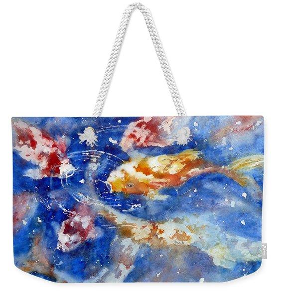 Swimming Koi Fish Weekender Tote Bag